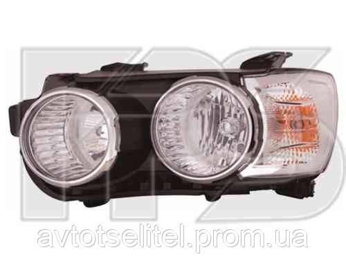 Фара передняя для Chevrolet Aveo 11- левая хромированный отражатель. (DEPO) под электрокорректор