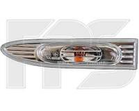 Указатель поворота на крыле Hyundai Accent 06-10 правый, белый (прозрачный) (DEPO)
