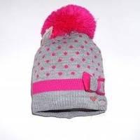 Зимняя шапка с помпоном на флисовой подкладке Vivatricko для девочки