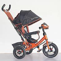 Велосипед 3-х колёсный Best Trike 6588 B (1) БРОНЗОВЫЙ, НАДУВНЫЕ КОЛЕСА, С ФАРОЙ