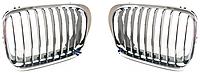 Решетка капота левая хром./черн. для BMW 3 (E46) 1998-01