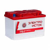 Аккумулятор Электроисток - 75а +правый 640 А