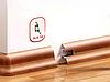 W 134 Бук темный  - напольный плинтус с каб.каналом Dollken SLK 50, фото 2