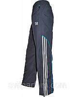Мужские спортивные штаны серые adidas  плащевки без подкладки (реплика)