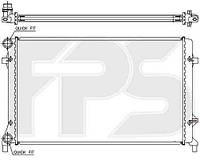 Радиатор охлаждения для SEAT ALTEA 04-/LEON 05-12/TOLEDO 05-09, SKODA OCTAVIA 05-09 (1Z3/1Z5) (A5)/OCTAVIA 09-13 (1Z3/1Z5) (A5)/YETI 0