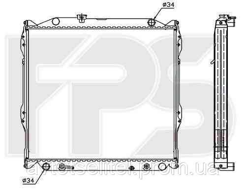 Радиатор охлаждения для TOYOTA LAND CRUISER PRADO 96-03 (J9)