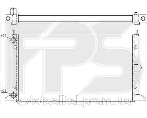 Радиатор охлаждения для VW SHARAN 95-00