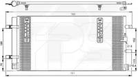 Радиатор кондиционера для AUDI A4 08-15 (B8)/Q5 08-12
