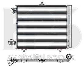 Радиатор кондиционера для CITROEN C2 03-09/C3 02-09, PEUGEOT 207 06-12