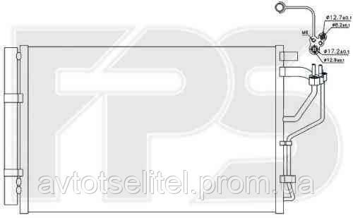 Радиатор кондиционера для HYUNDAI ELANTRA 11-14 (MD)/i30 12-, KIA CEED 12-