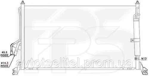 Радиатор кондиционера для INFINITI FX35/45 03-09