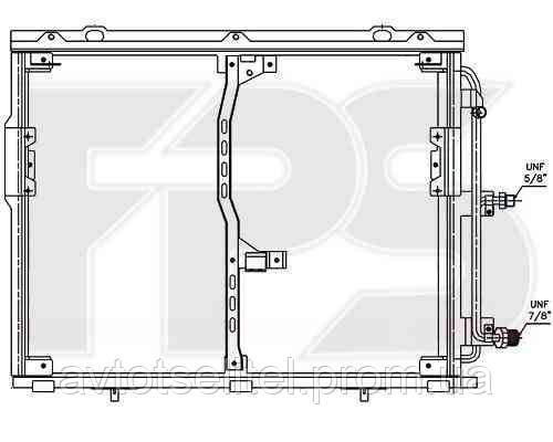 Радиатор кондиционера для MERCEDES 140 91-98 (S-CLASS)