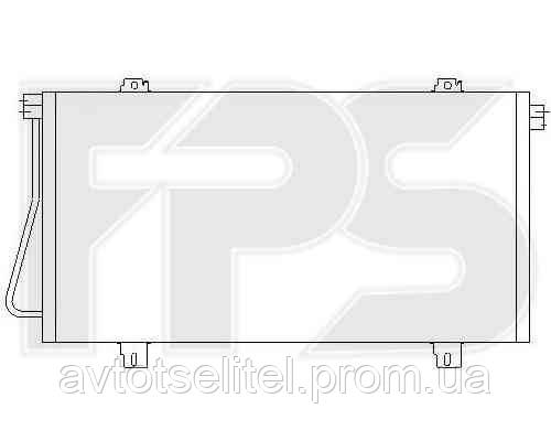 Радиатор кондиционера для OPEL MOVANO 98-03, RENAULT MASTER 98-03