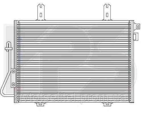 Радиатор кондиционера для RENAULT KANGOO 97-03/KANGOO 03-09
