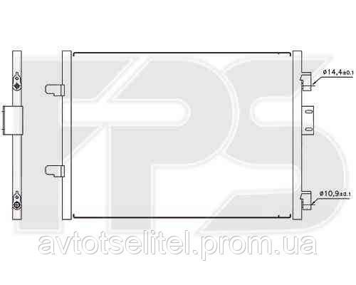 Радиатор кондиционера для RENAULT SYMBOL I 02-06 (LB0/1/2) / CLIO II 01-05 (B0/1/2)