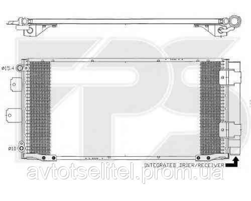 Радиатор кондиционера для TOYOTA COROLLA 97-99 (E11)/COROLLA 00-01 (E11)