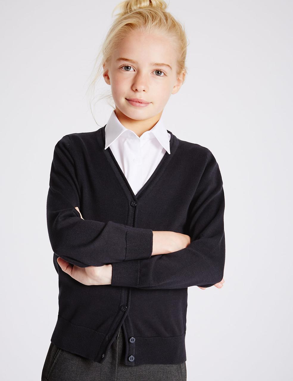 Школьный кардиган на девочку 13-14 лет Dark Navy Marks&Spencer (Aнглия)