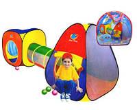 Большая детская двойная палатка с переходом A999-53