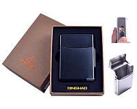 Портсигар с USB зажигалкой Black в подарочной упаковке под пачку сигарет, спираль накаливания