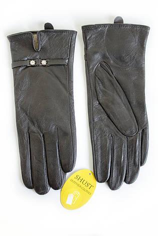 Женские кожаные перчатки Кролик W22-160042, фото 2