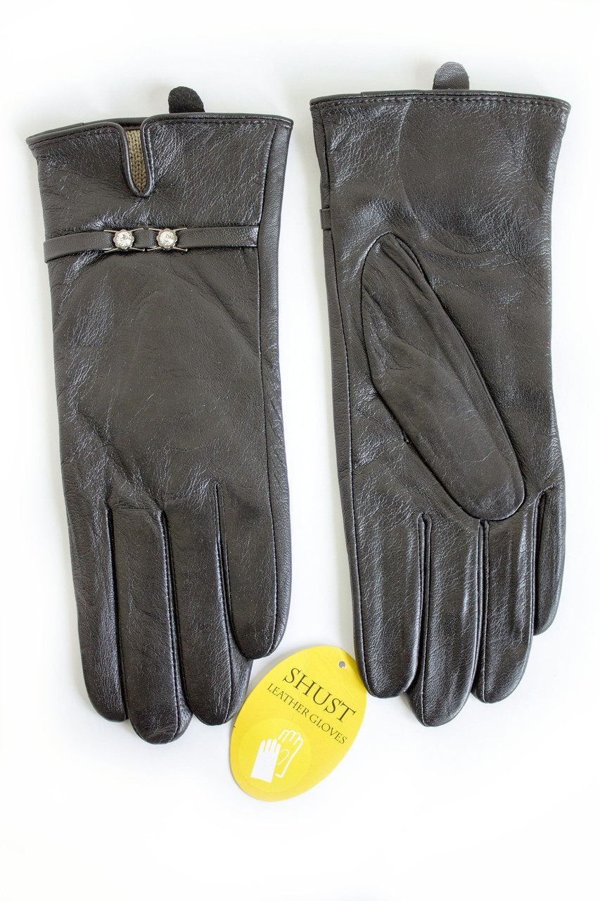 Женские кожаные перчатки Кролик W22-160042
