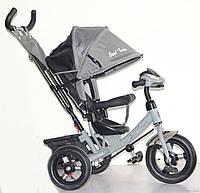 Велосипед 3-х колёсный Best Trike 6588 B (1) СЕРЫЙ, НАДУВНЫЕ КОЛЕСА, С ФАРОЙ