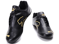 Кроссовки мужские  Puma Ferrari Low Black Gold M кроссовки пума, кроссовки puma