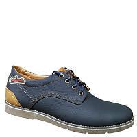 Кожаные мужские туфли на шнурках