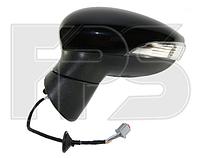 Зеркало левое электро складывающееся с обогревом грунт 8pin с указателем поворота без подсветки Fiesta 2013-