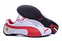 Кроссовки мужские  Puma Ferrari Low White Red M  кроссовки пума, кроссовки puma