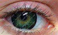 """Линзы для светлых глаз, модель """"Грин узор"""""""
