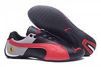 Кроссовки мужские Puma Ferrari Low Black Grey Red M  кроссовки пума, кроссовки puma