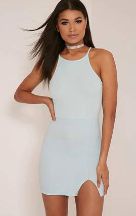 Новое платье цвета мяты с разрезом PrettyLittleThing, фото 2
