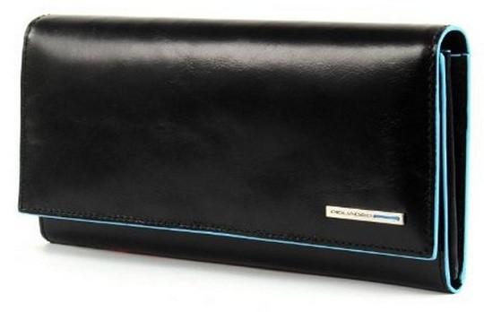 Классический женский кожаный кошелек Piquadro двумя отделениями PD3211B2_N черный