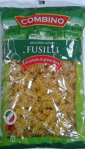 Макароны Combino fusilli - спиральки  0,500 кг