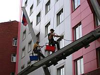 Монтаж фасадов зданий. Утепление.