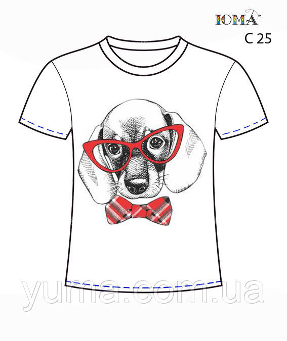 Мужская футболка c рисунком ''Такса з бабочкой''