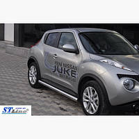 Пороги из труб для Nissan Juke с 2010 г.