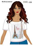 Женская футболка c рисунком ''В мечтах о Париже''