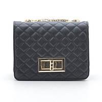 Клатч черный стеганый Chanel style