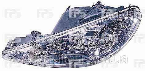 Фара передняя для Peugeot 206 98-06 правая (DEPO) под электрокорректор