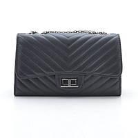 Клатч черный Chanel Chevron E style