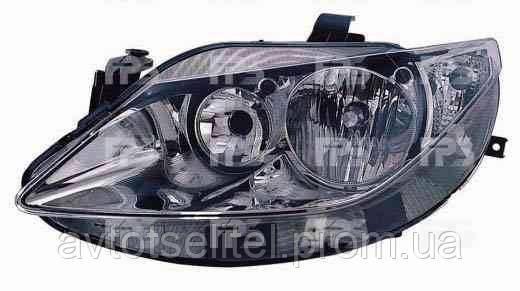 Фара передняя для Seat Ibiza 08- левая (DEPO) хромированный отражатель H7+H7 под электрокорректор