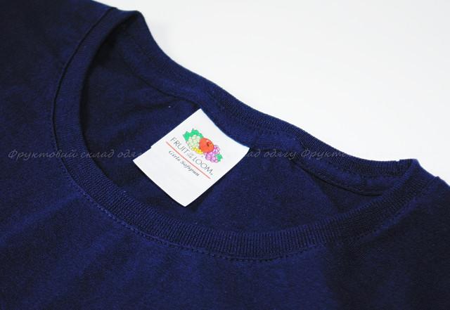 Глубоко тёмно-синяя детская мягкая футболка для девочек