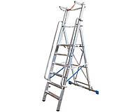 Лестницы и стремянки KRAUSE Односторонняя стремянка с большой платформой KRAUSE Stabilo 14 ступеней
