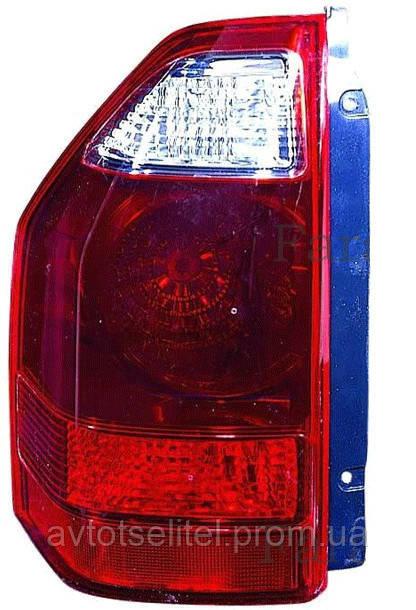 Фонарь задний для Mitsubishi Pajero Wagon 3 03-07 правый (DEPO) темно-красный, на крыле