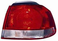 Фонарь задний для Volkswagen Golf VI хетчбек 09- левый (DEPO) внешний, светло-красный