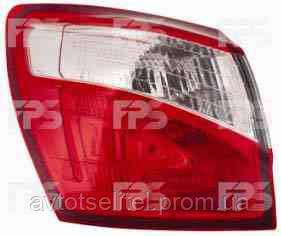 Фонарь задний для Nissan Qashqai10- правый (DEPO) внешний