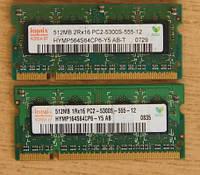 Оперативная память SO-DIMM DDR2 Hynix (2x512mb = 1 gb)