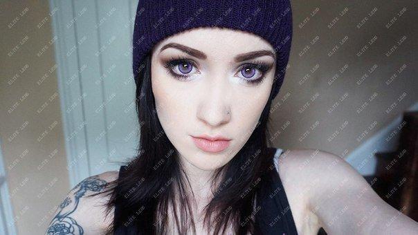 """Фіолетові лінзи для світлих очей, модель """"Фіолетові лялькові"""""""